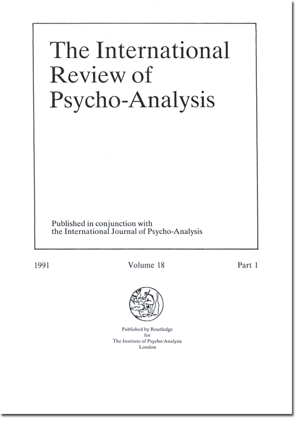 "Tapa de ""The international review of psycho-analysis"""